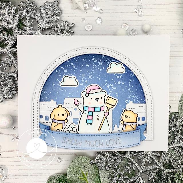 Mama Elephnat Snow Friends