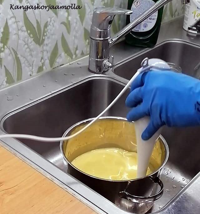 Perunoiden keitinvesi saippua