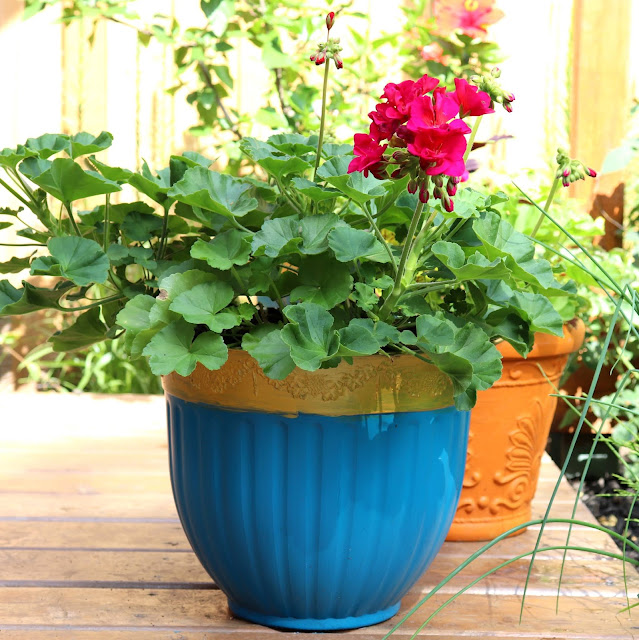 DIY painting plant pots with Americana decor outdoor living paint