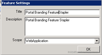 SharePoint Branding Stapler Scope
