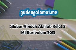 Silabus Akidah Akhlak Kelas 6 MI Kurikulum 2013 Revisi Terbaru