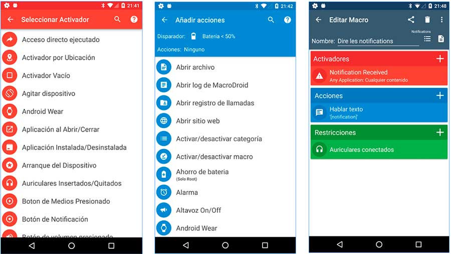 macrodroid para automatizar apps