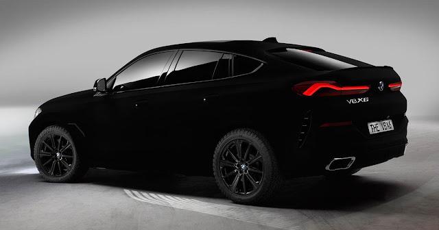 A BMW anunciou a criação de um BMW X6 revestido em Vantablack VBx2.
