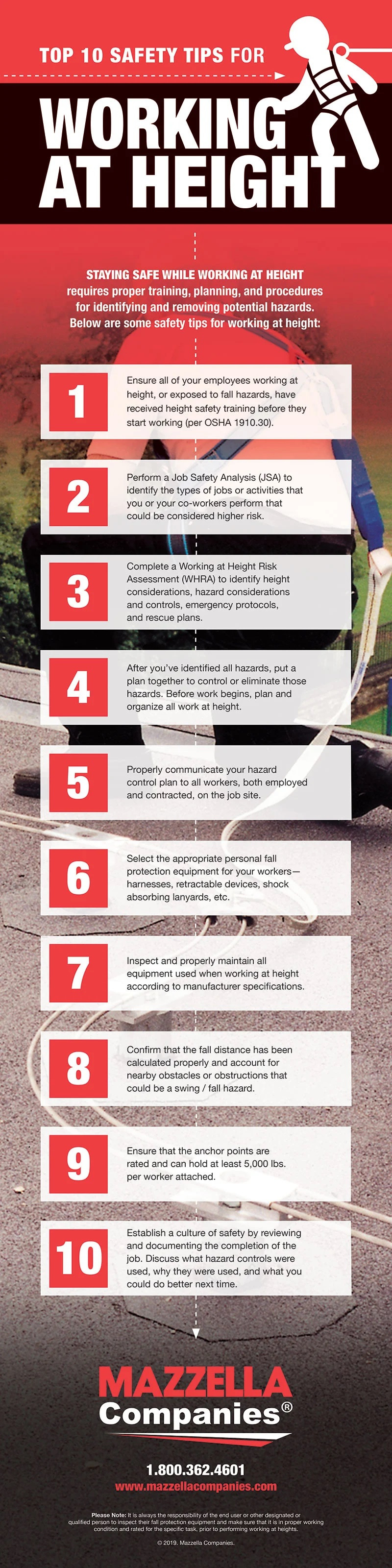 Top 10 Safety Tips for Working at Height #infographic