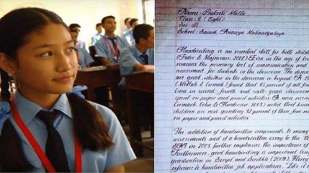 Gadis Kecil ini Punya Tulisan Tangan Unik dan Tercantik di Dunia, Rapi Layaknya Ketikan Komputer! Saking Uniknya, Tulisan Malla Telah Menjadi Fenomena Tersendiri di Media Sosial