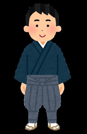 たっつけ袴のイラスト