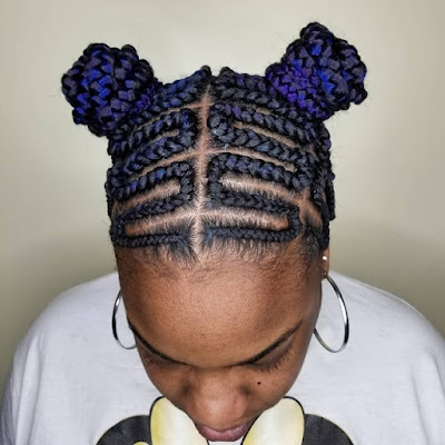Braided Ghana Hairstyles for Black Hair