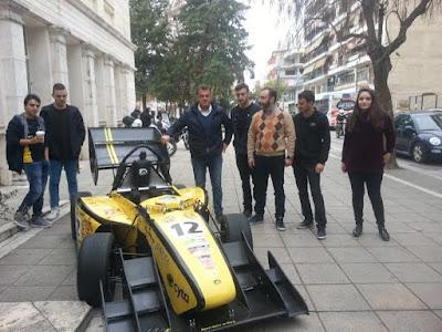 """Τα """"ΑΙΚΑΤΕΡΙΝΕΙΑ"""" φιλοξένησαν την αγωνιστική ομάδα Formula του Α.Π.Θ. - Εντυπωσίασε η """"ART Aristotele Racing Team"""""""
