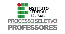 IFSP abre Processo Seletivo para professores de diversas áreas com salários de R$ 2.236,92 a R$ 5.831,21