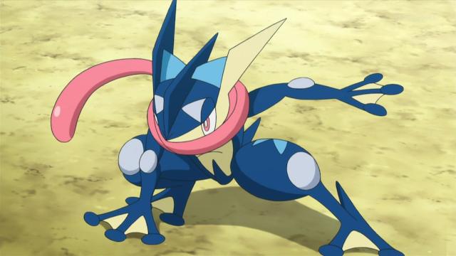 Pokemon Greninja, znany w Japonii jako Gekkouga