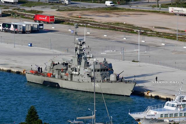 Πλοίο του Πολεμικού Ναυτικού στο Ναύπλιο για την Επέτειο των 200 χρόνων της Ελληνικής Επανάστασης