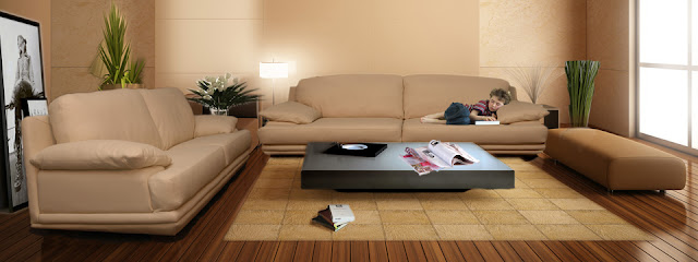 A free high quality and polygon Modern leather Sofa model.