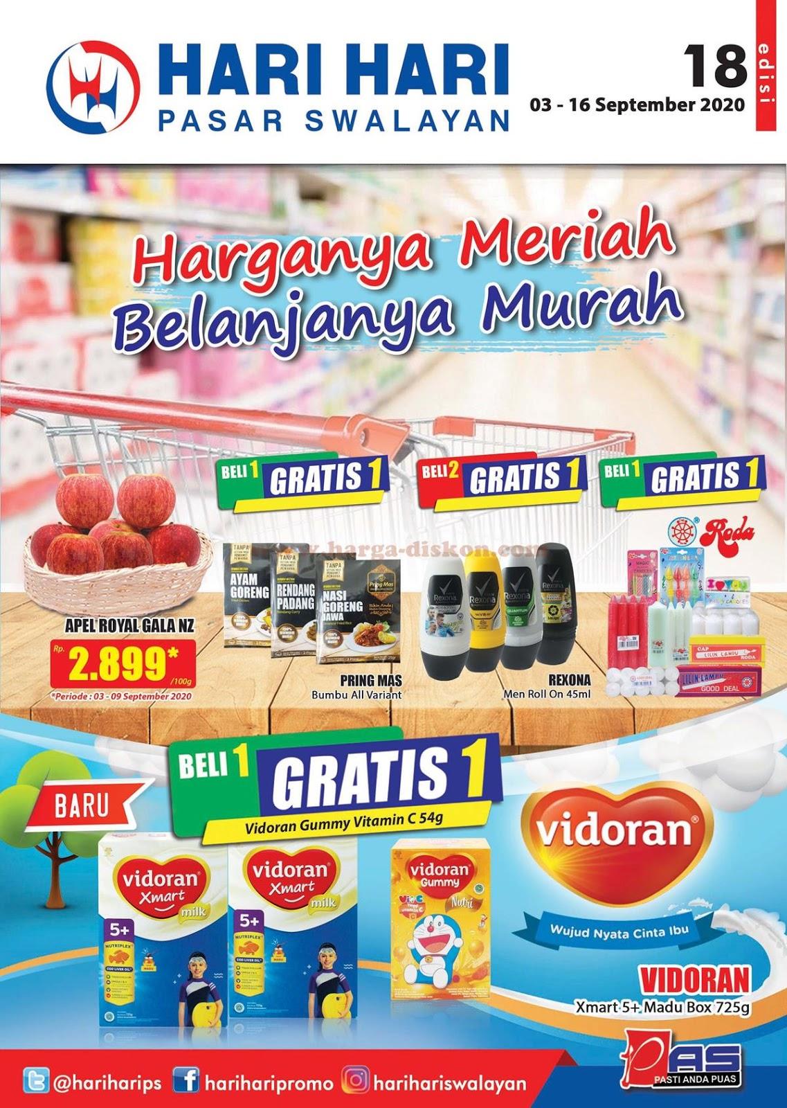 Katalog Promo Hari Hari Swalayan 03 16 September 2020 Harga Diskon