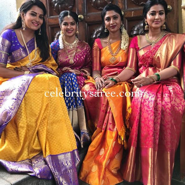 Sneha Himaja in Traditional Silk Sarees