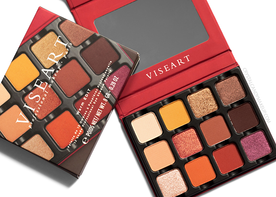 Viseart Warm EDIT Eye Shadow Palette Review Photos Swatches Summer 2019