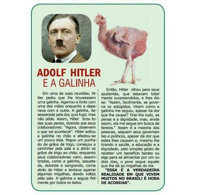 """De Adolf Hitler para o """"gado bolsonarista"""""""