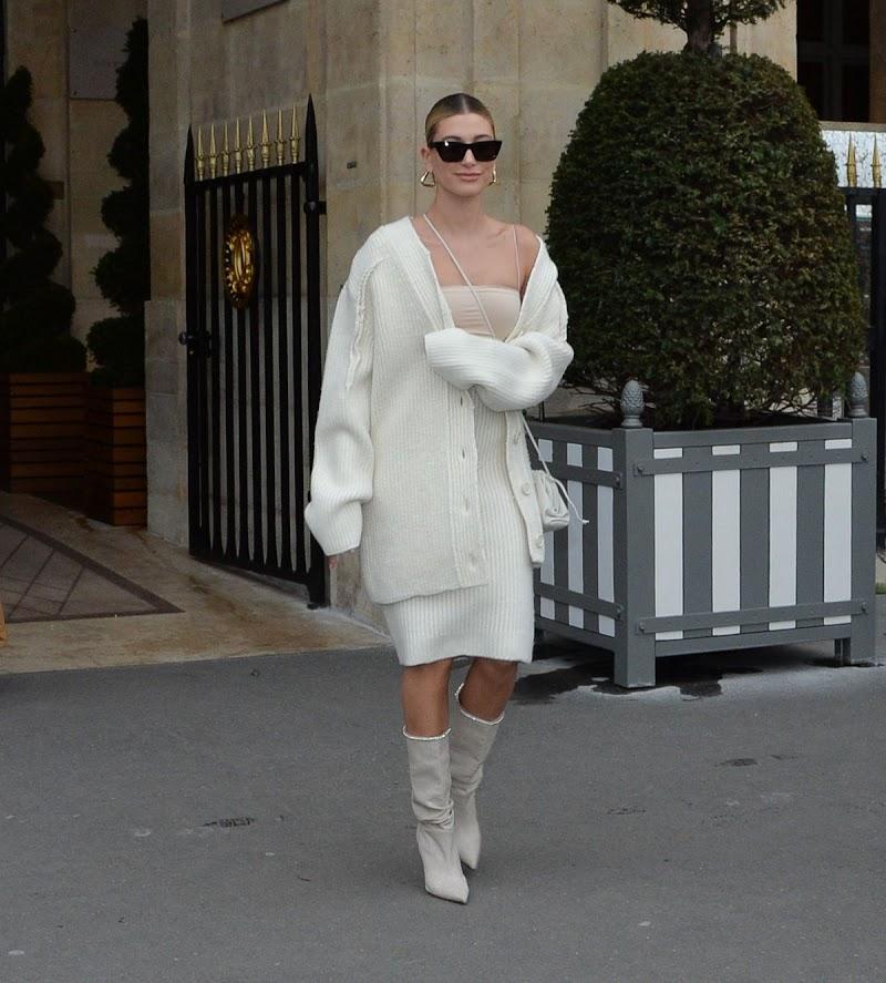Hailey Bieber Leaves Her Hotel in Paris 27 Feb-2020