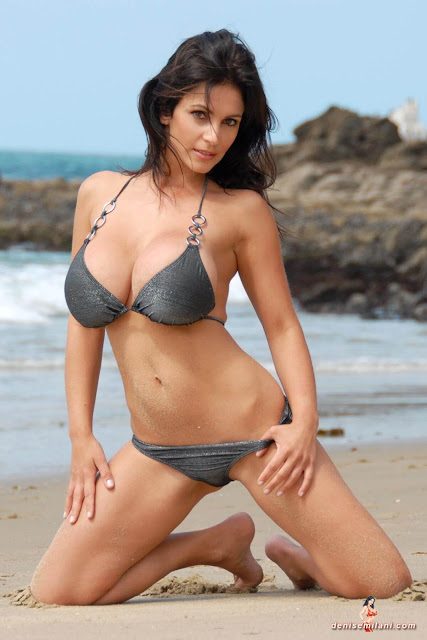Denise-Milani-Beach-Silver-bikini-hottest-photoshoot-pics-34