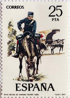 OFICIAL DE SANIDAD MILITAR 1895