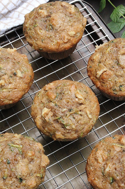 Small Batch Olive Oil Zucchini Muffins