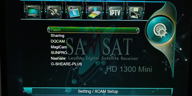 SAMSAT HD1300 1506G 1G 8M NEW SOFTWARE WITH SUNPRO & MAGICAM OPTION