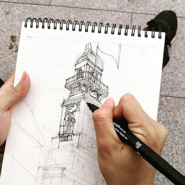 Chia sẻ các bước ký họa phong cảnh