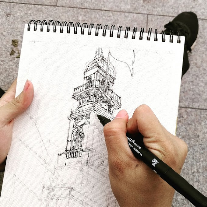 Tự học vẽ ký họa phong cảnh - Trí Núi chia sẻ trải nghiệm