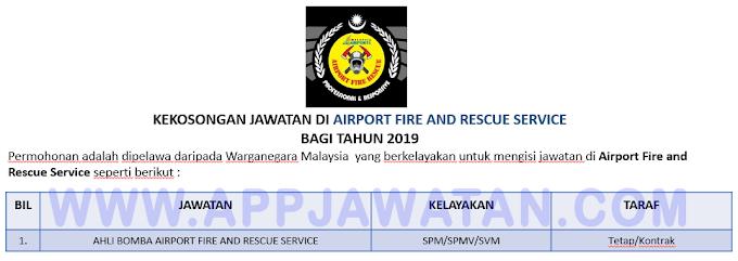 Temu Duga Terbuka untuk Jawatan Ahli Bomba di Airport Fire and Rescue Service