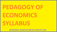 bed first year syllabus and curriculum