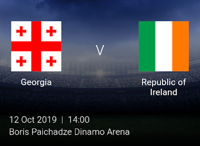 LIVE MATCH: Georgia Vs Ireland UEFA Euro 2020 Qualifiers 12/10/2019