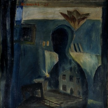 Väinö Kunnas - Blue Atelier (1925) - Oil on canvas - interesting art paintings images