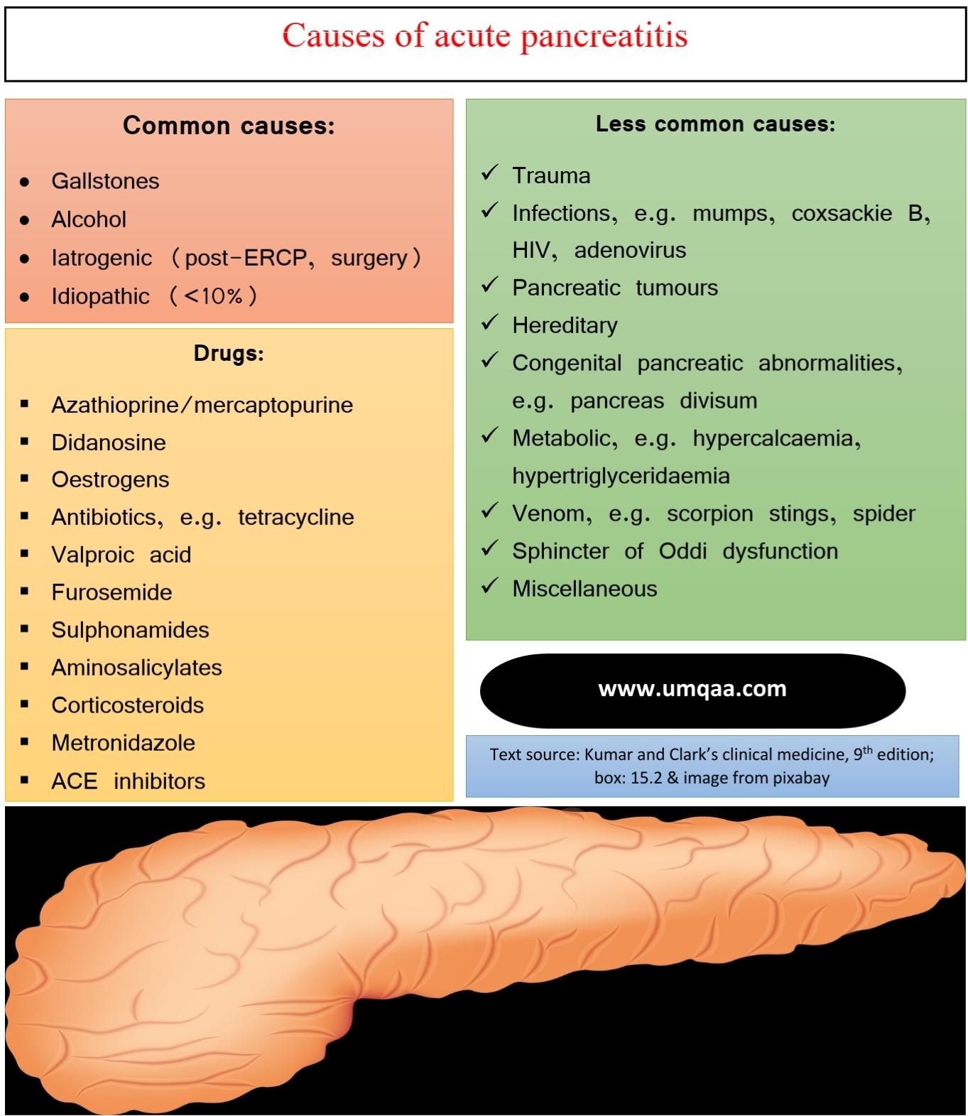 causes of acute pancreatitis
