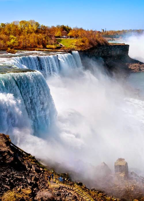 NNiagara Falls waterfalls, border between Canada and the United States