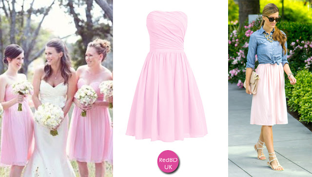 Strapless A-line Short Bridesmaid Dress