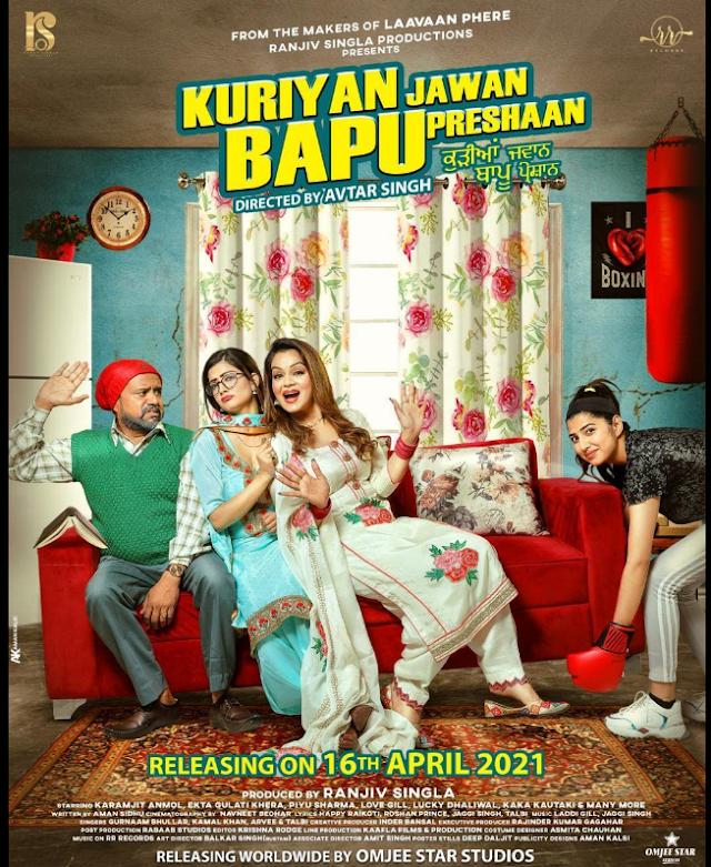 Kuriya Jawan Bapu Preshaan 2021 x264 720p WebHD Esub Punjabi THE GOPI SAHI