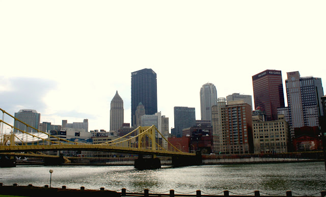 Pittsburgh bridge and skyline