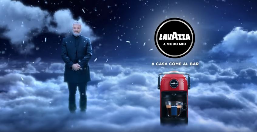 Testimonial Lavazza pubblicità Auguri dal Paradiso con Foto - Testimonial Spot Pubblicitario 2016