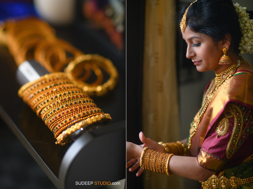 South Asian Indian Wedding Photography Bride Getting Ready by SudeepStudio.com Ann Arbor Indian Wedding Photographer