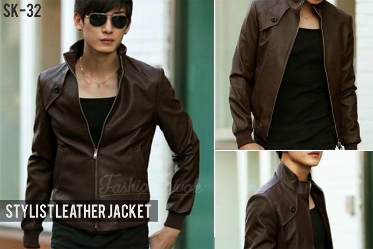 fashion cowok fashioncowok jaket kulit korean