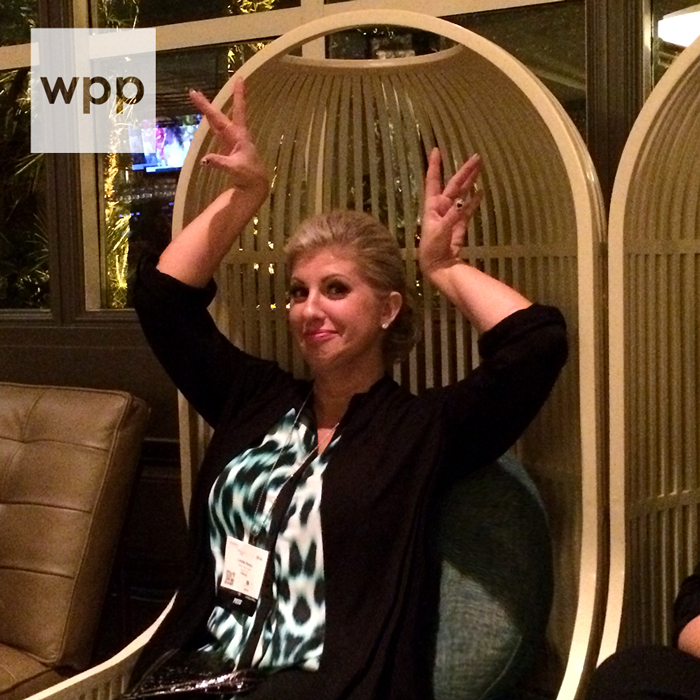 Me posing like a bird in the birdcage chairs at the PRESS Lounge....this is what happens when you haven't slept for 23 hours.