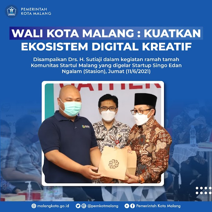 Wali Kota Malang, Drs. H. Sutiaji Hadir dan Memberi Dukungan terhadap Geliat Komunitas Ekonomi Kreatif