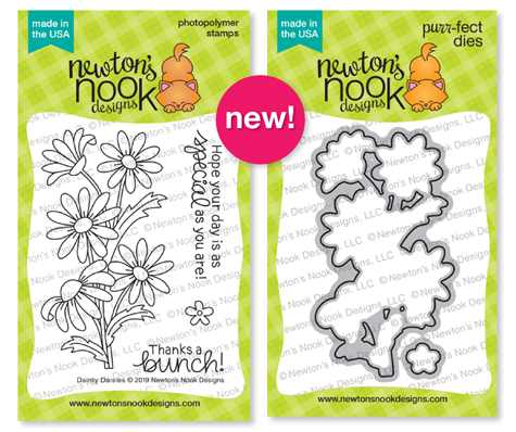 Dainty Daisies | Flower Stamp Set by Newton's Nook Designs #newtonsnook