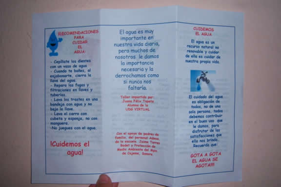 Responsabilidad 2 Parte2012 Cuidado Si Has Escrito Te: Como Hago Un Cartel Del Cuidado Del Agua