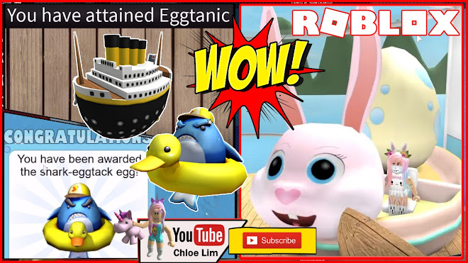 Roblox 2 Eggs at SEA! Getting the Eggtanic and Shark Eggtack Egg! EASY! Easter Egg Hunt 2019!