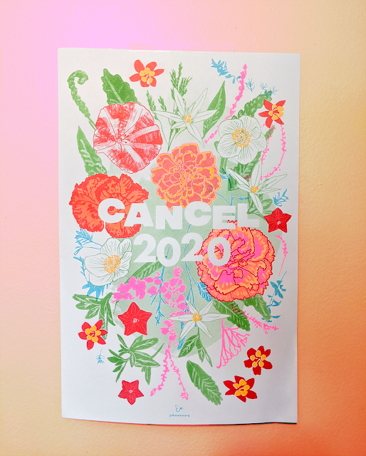 """Cancel 2020"" floral poster by The Monarq"