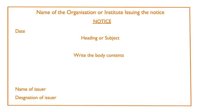 Notice Writing Format, Topics and Notice Writing Examples
