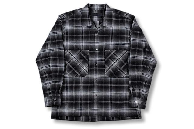 BLACK&BLUE [ ワーカースタイルシャツ ] ブラックチェック