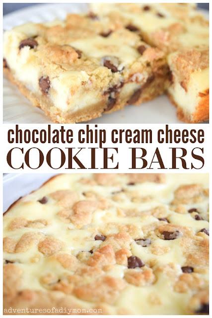 chocolate chip cream cheese cookie bars