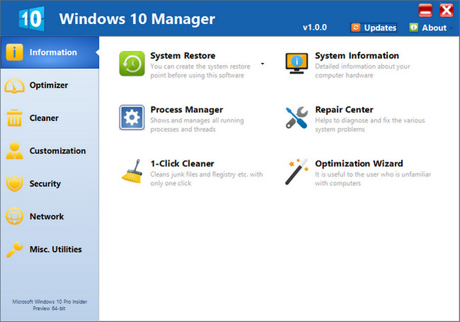 Yamicsoft Windows 10 Manager 1.1.9 + Keygen