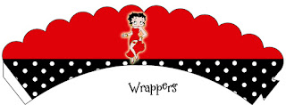 Betty Boop, Free Printable Wrappers Cupcake.